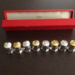 Eight Cartier Sterling Silver Salt/Pepper Shakers